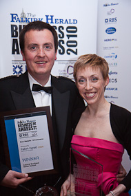 Cameron Leask and Amanda-Louise Clark at the 2010 Business Awards