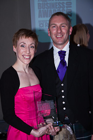 Amand-Louise Clark with RBS Director, Brian Murphy